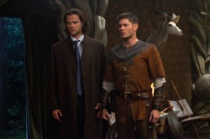 "Sam and Dean in ""LARP"" outfits"