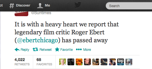 Twitter : Suntimes: It is with a heavy heart we ...