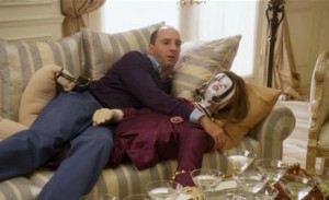 Buster Bluth with the Lucille doll