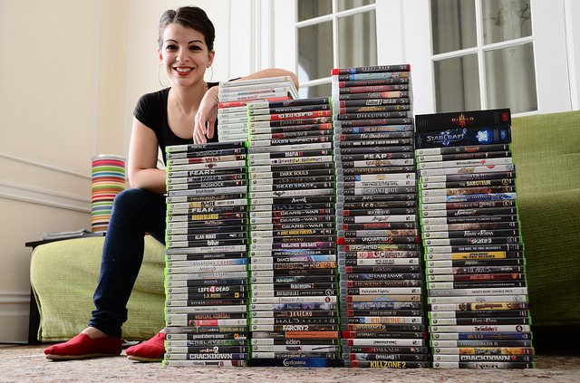Anita Sarkeesian, photo credits from her blog, Feminist Frequency