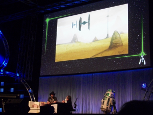 Dave Filoni showcases a new alien environment (with TIE Fighters!) from Star Wars: Rebels.