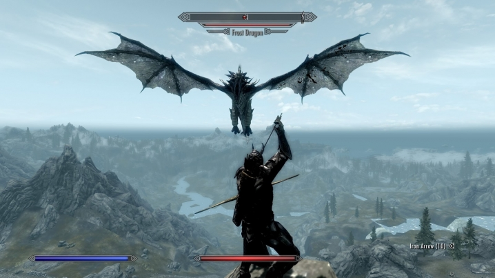 Dragon Skyrim Screencap