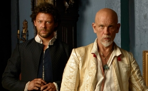 Richard Coyle as Tom Lowe and John Malkovich as Blackbeard