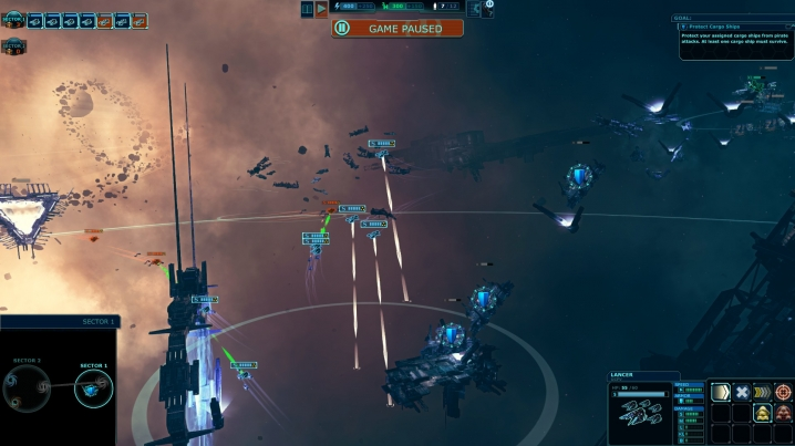 Movement (white) and safe attack (green) lines are clearly visible during combat